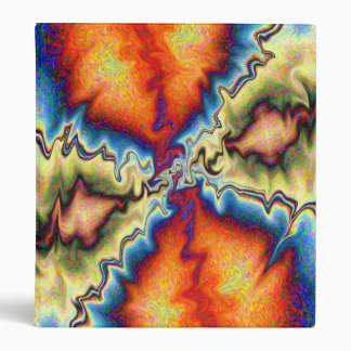 Tye Dye Shock Art Binder