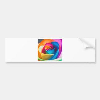 Tye Dye single rose Bumper Sticker