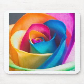 Tye Dye single rose Mouse Pad