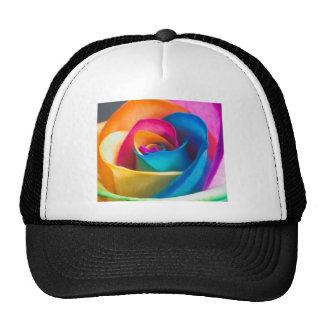 Tye Dye single rose Trucker Hat