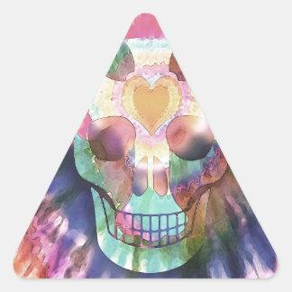 Tye Dye Skull Triangle Sticker