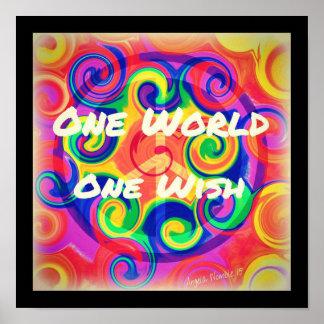 Tye Dye Swirl Poster