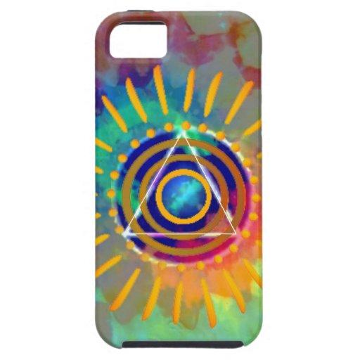 Tyedye espiritual iPhone 5 funda