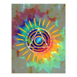 Tyedye espiritual membrete a diseño