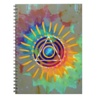 Tyedye espiritual notebook
