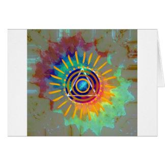 Tyedye espiritual tarjeta de felicitación