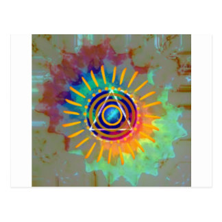 Tyedye espiritual tarjeta postal