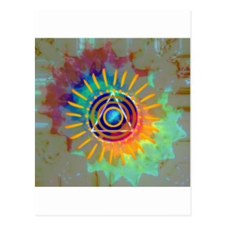 Tyedye espiritual tarjetas postales