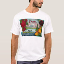 Tyee Pear Crate LabelWA, OR, and CA T-Shirt