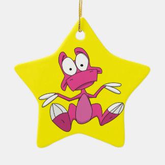 TYEISHA REX! Double-Sided STAR CERAMIC CHRISTMAS ORNAMENT