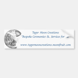 Tyger Moon Bumper Sticker