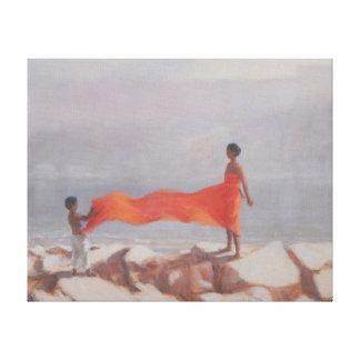 Tying A Sari India 2012 Canvas Print