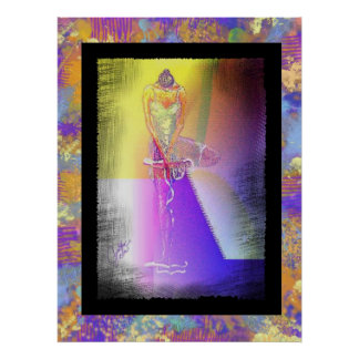 Tying Pointe Shoe Standing Contemporary Poster