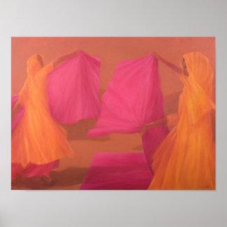 Tying Saris Poster