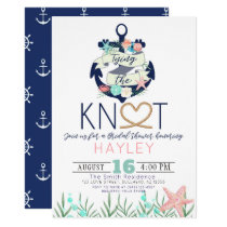 Tying the Knot Bridal Shower Invitation Nautical