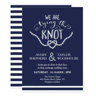 tying the knot modern wedding invitation zazzle com
