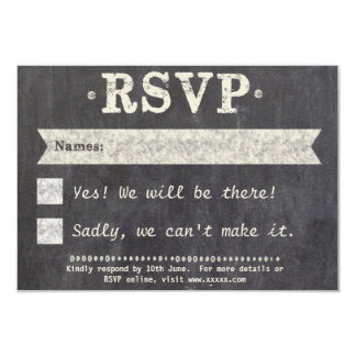 Tying the Knot Chalkboard Gay RSVP Card