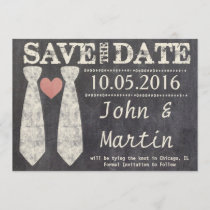 Tying the Knot Chalkboard Gay Save the Date
