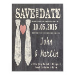 Tying the Knot Chalkboard Gay Save the Date Magnetic Card