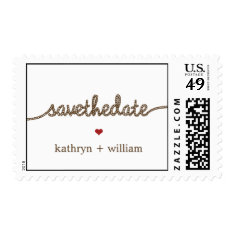 Tying The Knot Custom Postage Stamp