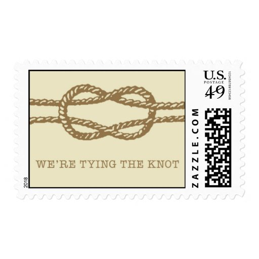 Tying The Knot - gold by Ceci New York Postage Stamp