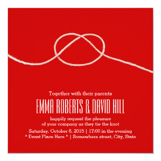 Tying the Knot Love Big Red Wedding Card