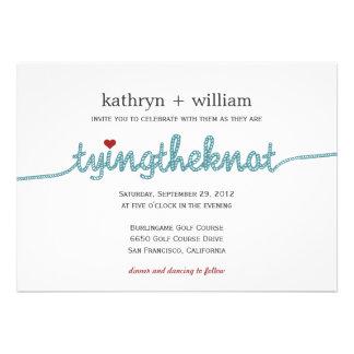 Tying the Knot Modern Wedding Invitation Custom Invitations
