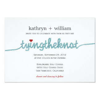 Tying the Knot Modern Wedding Invitation