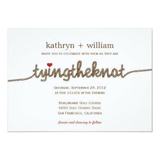 "Tying the Knot Modern Wedding Invitation 5"" X 7"" Invitation Card"