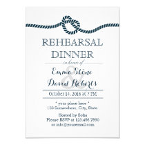 Tying the Knot Nautical Wedding Rehearsal Dinner Invitation