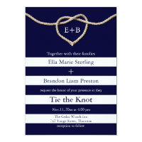 Tying the Knot Navy Wedding Invitation