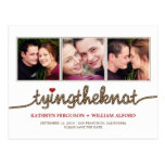 Tying The Knot Photo Save The Date Card Postcard