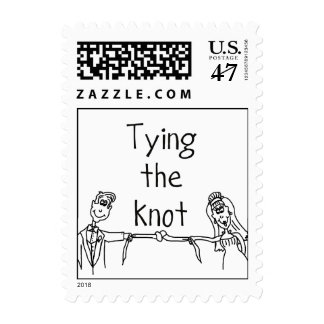 """Tying the Knot"" postage stamp"