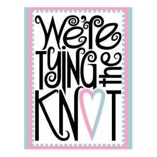 Tying the Knot Postcard