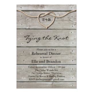 Tying the Knot Rehearsal Dinner Invitation