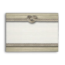 Tying The Knot Rustic Beach Wedding Envelope