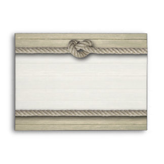 Tying The Knot Rustic Beach Wedding Envelope