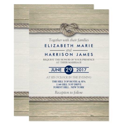 tying the knot rustic beach wedding invitation zazzle com
