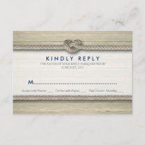 Tying The Knot Rustic Beach Wedding RSVP