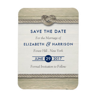 Tying The Knot Rustic Beach Wedding Save The Date Magnet