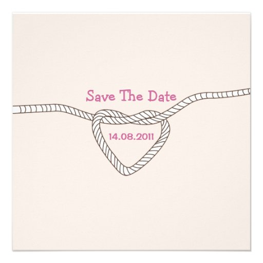 Tying the Knot Save the Date Personalized Invitation