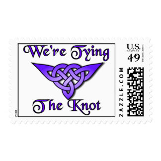 Tying The Knot Violet Postage