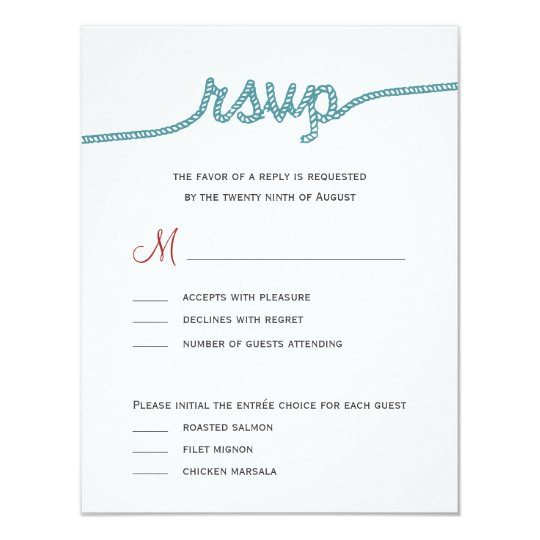 Tying the knot wedding rsvp cards zazzlecom for The knot wedding invitation language