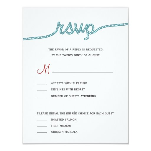 Tying The Knot Wedding RSVP Cards 425 X 55 Invitation Card