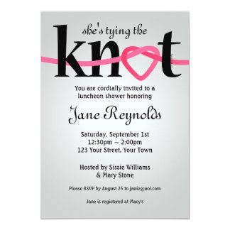 Lovely Tying The Knot Wedding Shower Invitation