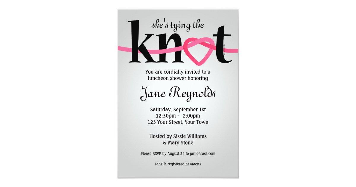 The Knot Addressing Wedding Invitations: Tying The Knot Wedding Shower Invitation