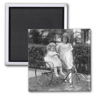 Tyke on Trike, 1920s 2 Inch Square Magnet