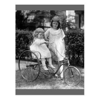 Tyke on Trike, 1920s Postcard