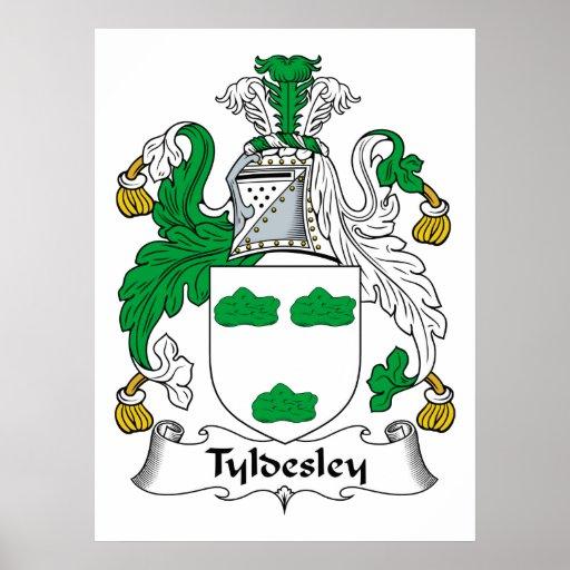 Tyldesley Family Crest Print