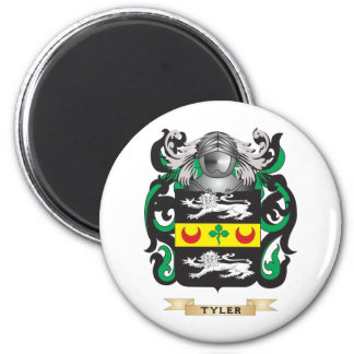 Tyler 3 Family Crest (Coat of Arms) 2 Inch Round Magnet
